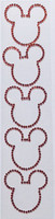 Mouse Ears Bling 5 Pack – Red Rhinestones