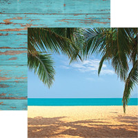 Caribbean Beach - Reminisce Double Sided 12 x 12 Paper