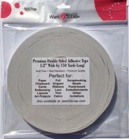 "Double Sided Premium Tape by Want2Scrap - 1/2"" x 150 yards"