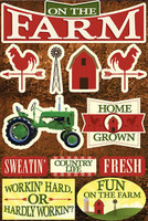 On the Farm - Reminisce Dimensional Sticker Poster