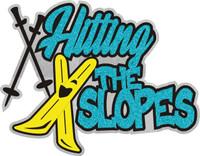 Hitting the Slopes - Laser Die Cut