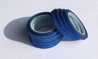 Washi Tape 1/4 Inch 10 Pack - Dark Blue Glitter
