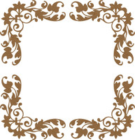 Floral Border 4 Pack - Chipboard Embellishment