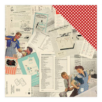 RETRO KITCHEN - AUTHENTIQUE DOUBLE SIDED PAPER