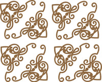 Mini Decorative Corner Borders - 4 Pack Chipboard Embellishment