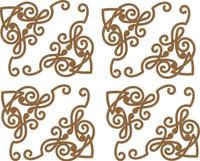 Mini Decorative Corner Borders - 4 Pack Chipboard Embellishment