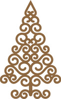 NEW Swirl Christmas Tree Large - Chipboard Embellishment