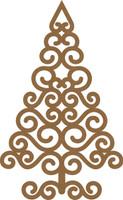 NEW Swirl Christmas Tree Large - Chipboard Embellishment