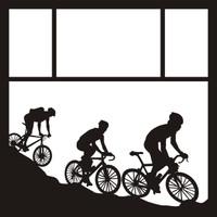 Biking Pg 1 - 12 x 12 Scrapbook OL
