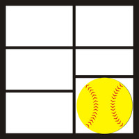 Softball 3 Pg 2 - 12 X 12 Scrapbook OL