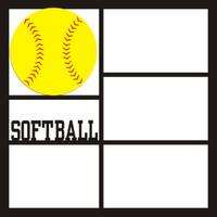 Softball 3 Pg 1 - 12 x 12 Scrapbook OL