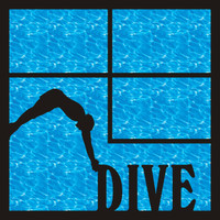 Dive Team Pg 1 - 12 x 12 Scrapbook OL