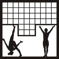 Gymnast Mosaic - 12 x 12 Scrapbook OL