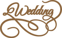 Wedding Swirl - Chipboard Embellishment
