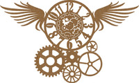 Steampunk Wings, Clock & Gears