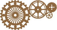 Gears- Chipboard Embellishment