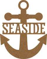 "Anchor with text ""Seaside"" - Chipboard Embellishment"