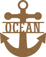"Anchor with the text ""Ocean"" - Chipboard Embellishment"