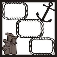 Cruisin Pg 2 - 12 x 12 Scrapbook Overlay