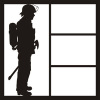 Fire Fighter Pg 1 - 12 x 12 Scrapbook Overlay