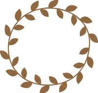 Chipboard Frame Large Leaves- Chipboard Embellishment