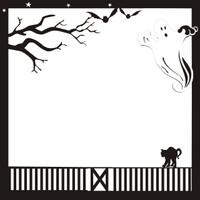 Halloween Pg 2 12 x12 ScrapbookOverlay