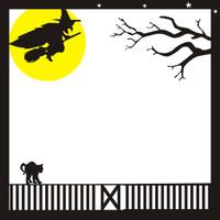 Halloween Pg 1 - 12 x 12 Scrapbook Overlay