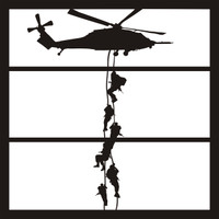 Helicopter Military Pg 2 - 12 x 12 Scrapbook Overlay