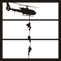 Helicopter Military Pg 1 - 12 x 12 Scrapbook Overlay