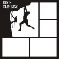 Rock Climbing Pg 1 - 12 x 12 Scrapbook Overlay
