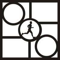 Triathlon Pg 2 -  12 x 12 Scrapbook Overlay