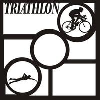 Triathlon Pg 1 - 12 x 12 Scrapbook OL