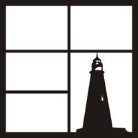 Lighthouse Pg 2 - 12 x 12 Scrapbook OL