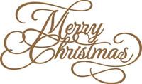 Merry Christmas Flourish Chipboard Embellishment
