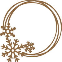 Snowflake Intertwined Frame Chipboard Embellishment