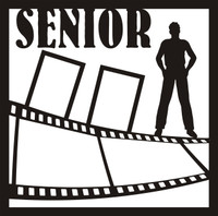 Senior Pictures Guy Pg 1 - 12 x 12 Scrapbook Overlay