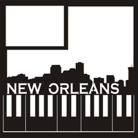 New Orleans -  12 x 12 Scrapbook Overlay