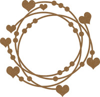 Intertwined Hearts & Dots Chipboard Frame Embellishment