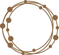 Intertwined Frame Large &  Small Circles Chipboard Embellishment