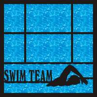 Swim Team Pg 1 - 12 x 12 Scrapbook OL