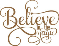 Believe in the Magic - Chipboard Embellishment