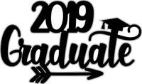 2019 Graduatew/Arrow- Laser Die Cut