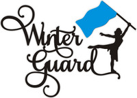 Winter Guard (pick your color flag) - Laser Die Cut