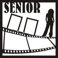 Senior Pictures Girl Pg 1 - 12 x 12 Scrapbook OL