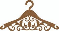 Hanger Ornate  - Chipboard Embellishment