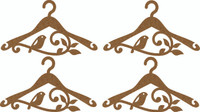Hanger (4 pack) Flourish & Bird Small - Chipboard Embellishment