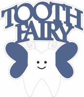 Tooth Fairy (navy blue) - Laser die cut