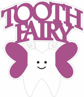 Tooth Fairy (purple ) - Laser die cut
