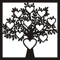 Heart Frame Tree - 12 x 12 Scrapbook OL