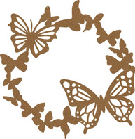 Frame Butterfly - Chipboard Embellishment